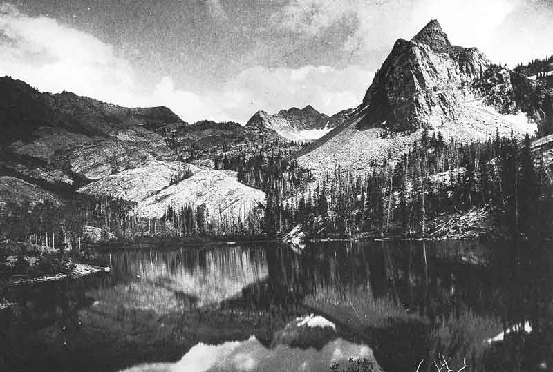 102. Lake Blanche in Big Cottonwood Canyon as photographed by Savage in the 1870s. Savage was probably the first to photograph its beauty.