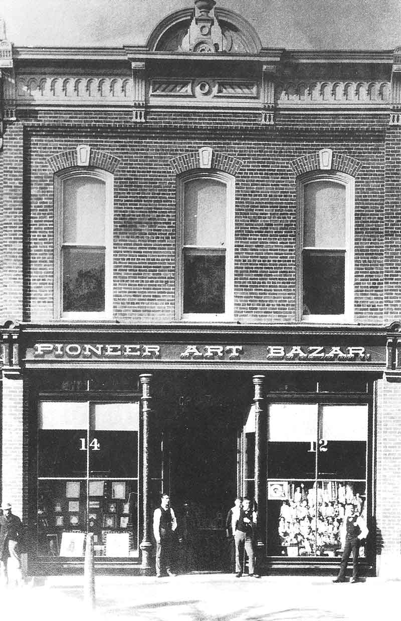 109. Savage's new gallery, rebuilt after the Council House fire, was named Pioneer Art Bazar.