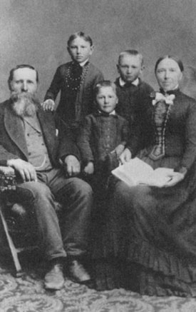 Bendt, Eldena, Alma, Ephraim, and Sophia Ericksen (ca. 1890).