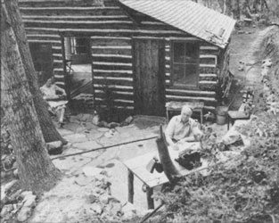 The Ericksens at the House of Ephraim in Millcreek Canyon, east of Salt Lake City (ca. 1936).
