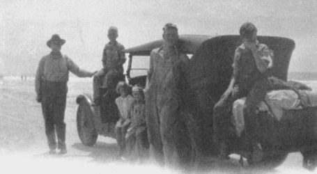 The Ericksensx 1928 trip to Virginia, showing Ephraim, Gordon, Margaret, Howard, Stanford, and Sheldon.