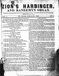 Zion's Harbinger and Baneemy's Organ, 1849-1855 (Thompsonite)