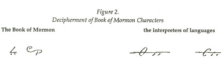 Decipherment of Book of Mormon Characters