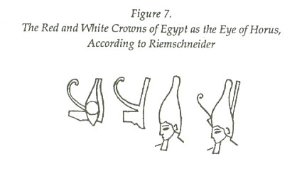 The Red and White Crowns of Egypt as the Eye of Horus, According to Riemschneider