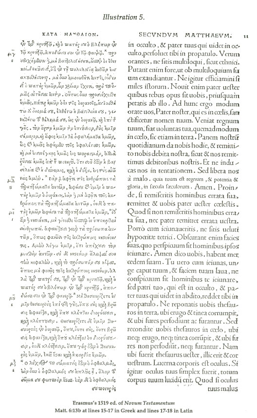 Erasmus's 1519 ed. of Novum Testamentum
