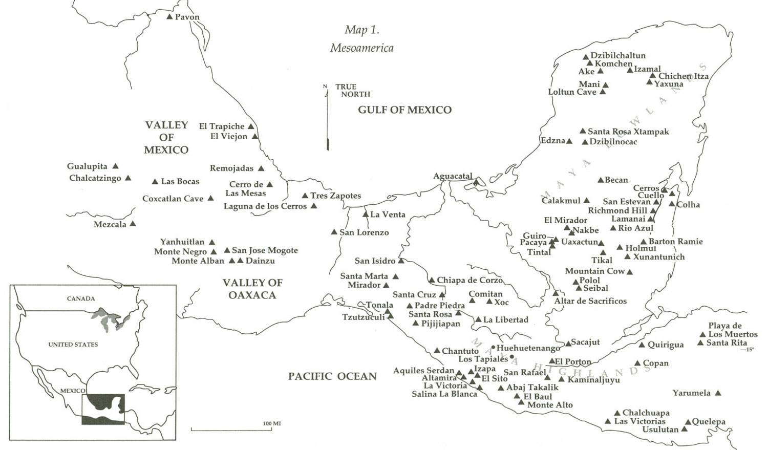 Mesoamerica [Map 1.]