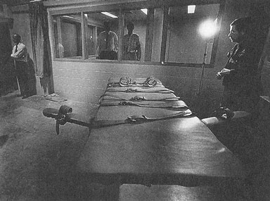Gurney used in the lethal injection of Pierre Dale Selby. Photographed after the execution, 28 August 1987. Courtesy Clyde Mueller and the Ogden Standard-Examiner.